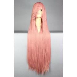 Peruka Różowa 100cm